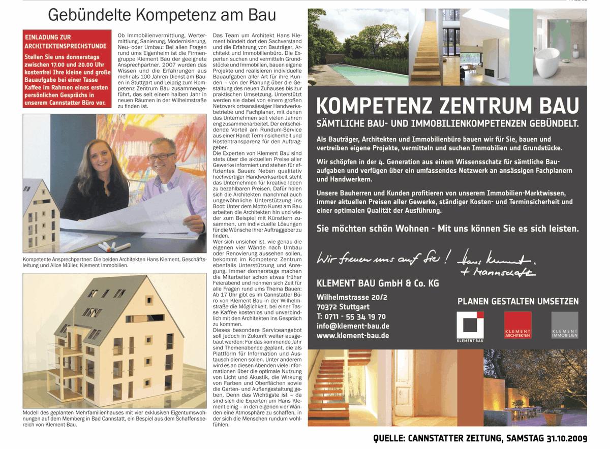Presse-2009-Oktober-31-Cannstatter-Zeitung-Gebuendelte-Kompetenz-am-Bau